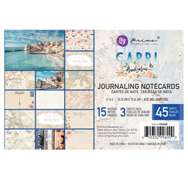 Prima Marketing-Capri/Journaling Notecards 4x6""