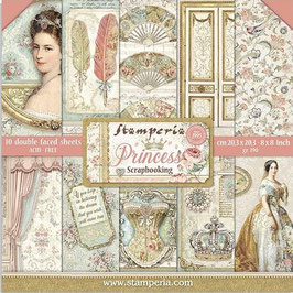 Stamperia-Paper Pad Princess 8x8""