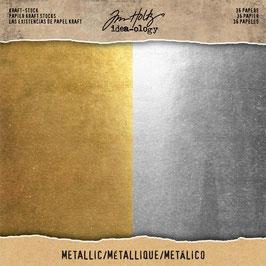 """Idea ology by Tim Holtz-Kraft Stock Metallic 8x8"""""""