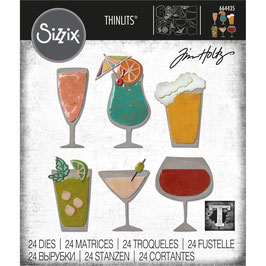 Sizzix by Tim Holtz Thinlits-Stanzform/Happy Hour