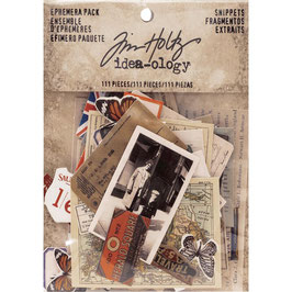 Idea-Ology by Tim Holtz/Ephemera Pack-Snippets