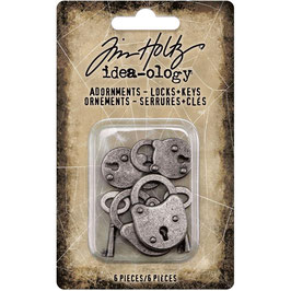Idea-Ology by Tim Holtz/Metal Adornments Locks & Keys