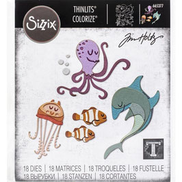 Sizzix Thinlits by Tim Holtz-Stanzform/Under The Sea #1 Colorize