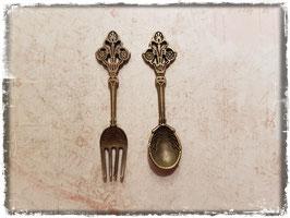 Vintage Metall Charms-Besteck