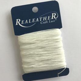Realeather Crafts-Waxed Thread/Gewachster Faden-Weiss