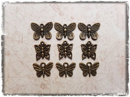 Metall Charms-Schmetterling Bronce-141