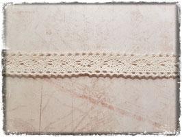 Zierband Spitzenband - Creme