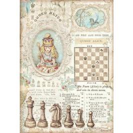 Stamperia Reispapier A4-Alice II DFSA4604