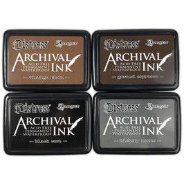 Ranger-Distress Archival Ink Pad Stack/Basics