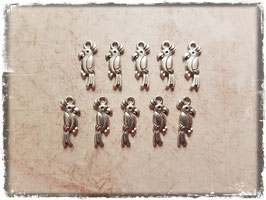 Metall Charms-Papagei Silber-271