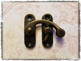 Verschluss mit Hacken - Vintage bronce gross 309