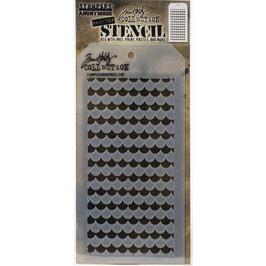 Tim Holtz-Stencil/Shifter Scallop-THS128