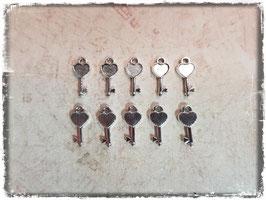 Metall Charms-Schlüssel Silber-296