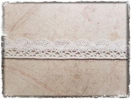 Zierband Spitzenband - Weiss