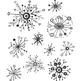 Stampers Anonymous by Tim Holtz-Stempel/Retro Flakes CMS417