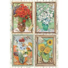 Stamperia Reispapier A4-Atelier Des Arts DFSA4549