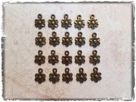 Vintage bronce Charms - Blumen 132