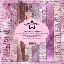"Paper Favourites-Lavender Ephemera 12x12"""