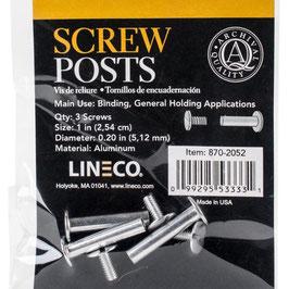 Lineco-Buchbinder Aluminium Schrauben
