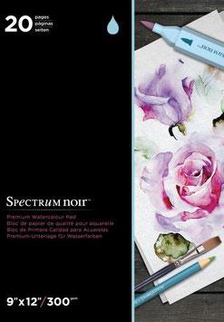 Spectrum Noir-Premium Watercolour Paper Pad/Weiss