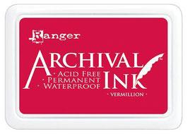 Ranger-Archival Stempelkissen & Nachfüller/Vermillion