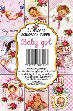 Decorer-Ephemera Karten/Baby girl