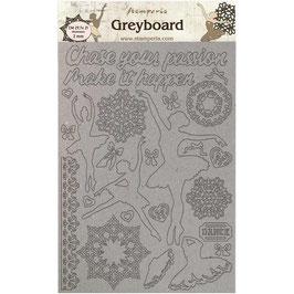 Stamperia Greyboard-Karton Stanzteile/Passion KLSPDA425