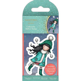 Gorjuss-Collectable Mini Rubber Stamp No.77/The Ice Dance