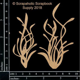 Scrapaholic/Laser Cut Chipboard-Sea Grass