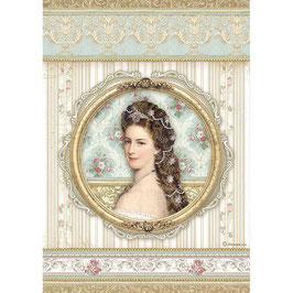 Stamperia Reispapier A4-Princess DFSA4481