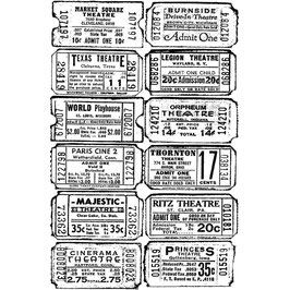 Stampers Anonymous by Tim Holtz-Stempel/Ticket