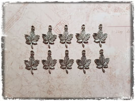 Vintage silber Charms - Ahornblatt 228