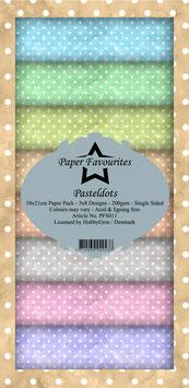 """Paper Favourites Slim-Pastel Dots 3x8"""""""