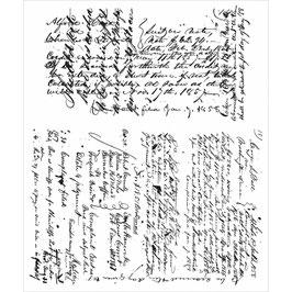 Tim Holtz Stempel Set-Ledger Script/CMS241