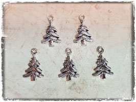 Metall Charms-Weihnachtsbaum Silber 1/210