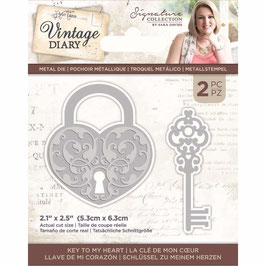 Crafter's Companion Stanzform-Vintage Diary Key to my Heart