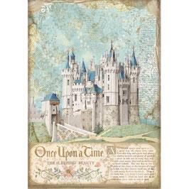 Stamperia Reispapier A4-Sleeping Beauty DFSA4569