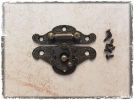 Verschluss mit Hacken - Vintage bronce gross 331
