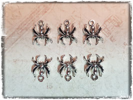 Metall Charms-Spinne Silber 1/217