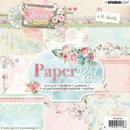 "Studio Light-Paper Pad Lovely Moments 6x6"" PPLM124"