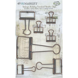 49 and Market-Binder Clips-Antique Bronze
