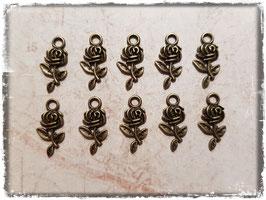 Metall Charms-Rosen Bronce-170