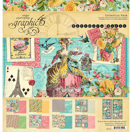 Graphic 45-Paper Pad Ephemera Queen (1) 12x12""