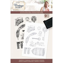 Crafter's Companion Stempel-Vintage Diary Perfectly Parisian