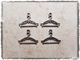 Metall Charms-Kleiderbügel Silber-214