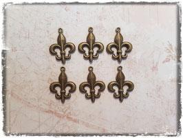 Vintage bronce Charms - Fleur de Lys 135