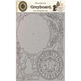 Stamperia Greyboard-Karton Stanzteile/Alice II LSPDA440
