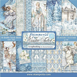 Stamperia-Paper Pad Winter Tales 12x12""