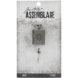 Assemblage by Tim Holtz-Lockets Book & Key/Medaillon