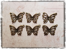 Metall Charms-Schmetterling Bronce-124